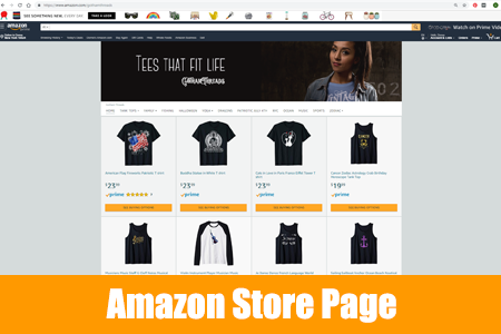 Amazon Store Page