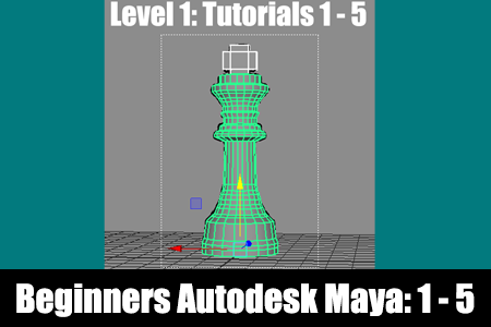 Beginners Autodesk Maya Tutorials 1 - 5