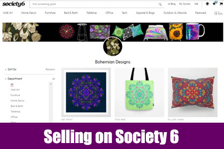 Selling on Society 6