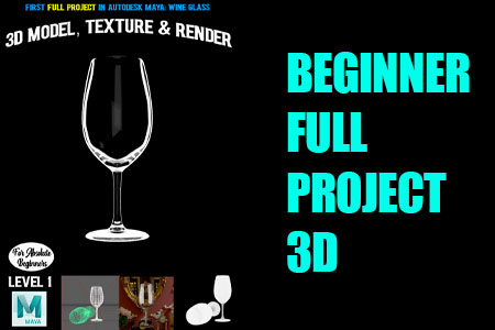 Autodesk Maya Full Project Wine Glass